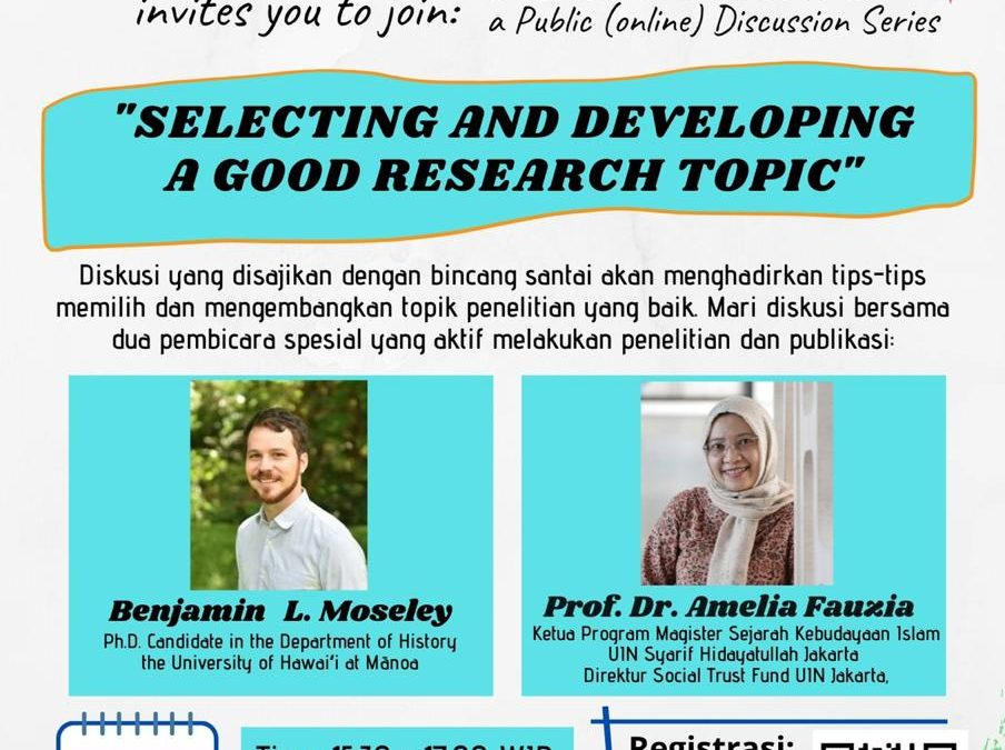 """OPEN MINDS: """"SELECTING AND DEVELOPING A GOOD RESEARCH TOPIC"""""""